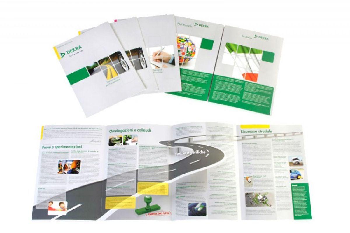 Realizzazione brochure aziendale Milano e stampa drip off: DEKRA